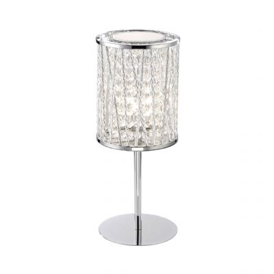Lefes Table Lamp on Polished Chrome and Crystal Beads - PAUL NEUHAUS 4023-17
